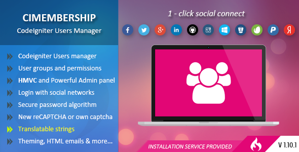 CIMembership – CodeIgniter Users Manager