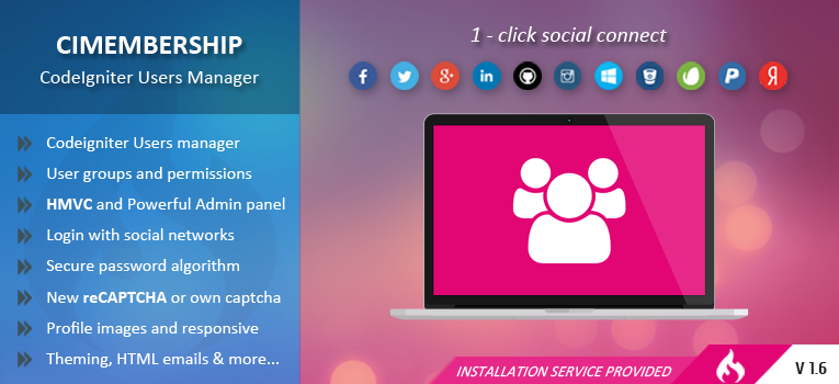 CIMembership – CodeIgniter Users Manager v1.6 released